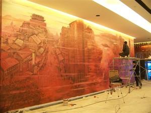 酒店文化墙+建筑